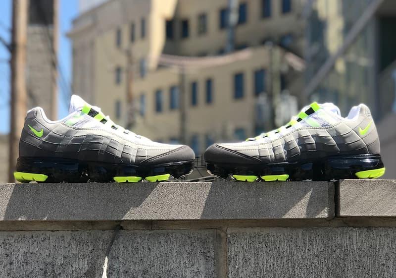 Nike 變種鞋款 Air VaporMax 95「Neon」更多實物細節曝光