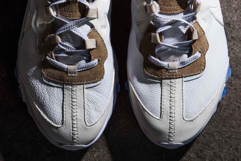 The Shoe Surgeon 以皮革材質打造 Nike React Element 87 全新客製版本