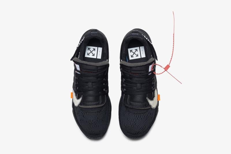 Virgil Abloh x Nike Air Presto 2.0 黑白配色鞋款官方圖片釋出