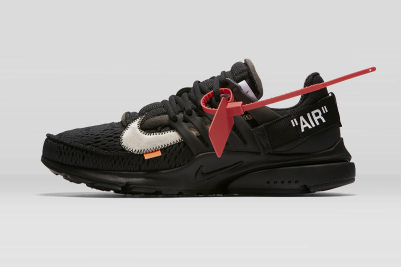 Virgil Abloh x Nike「The Ten」Air Presto 2.0 黑色鞋款香港 Nike 官方抽籤渠道釋出