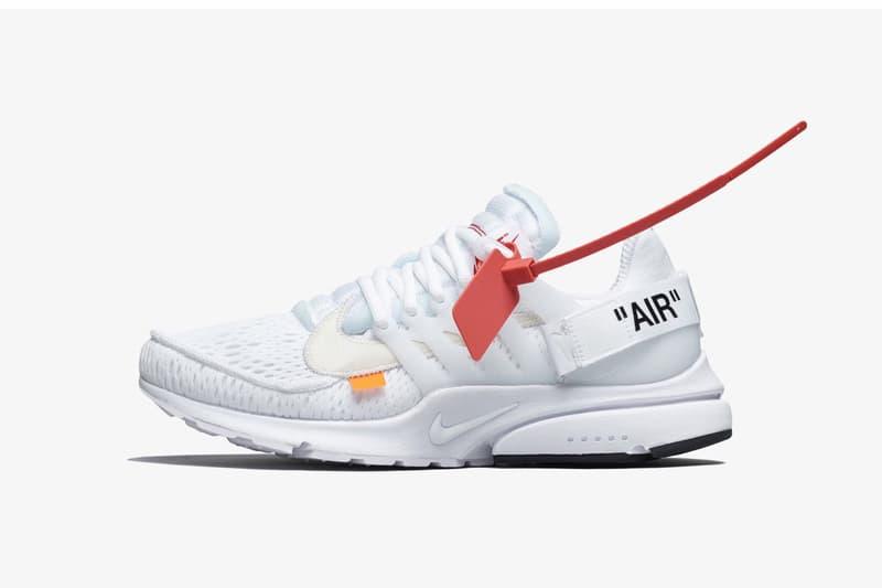 Virgil Abloh x Nike「The Ten」Air Presto 2.0 白色鞋款香港 Nike 官方抽籤渠道公告