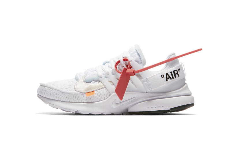 Virgil Abloh x Nike「The Ten」Air Presto 2.0 白色抽籤入手詳情公佈