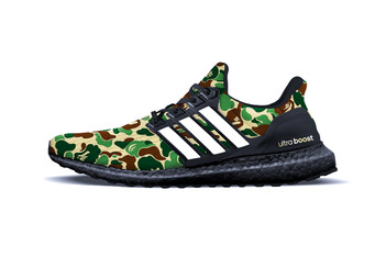 Picture of A BATHING APE® x adidas 2019 聯乘 UltraBOOST 最新預覽圖及發售信息釋出