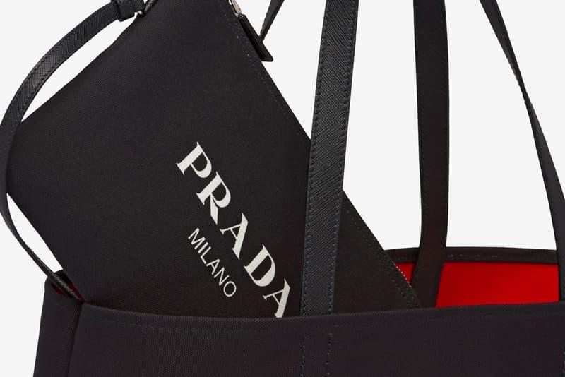 Prada 推出多款全新印花帆布 Tote Bag