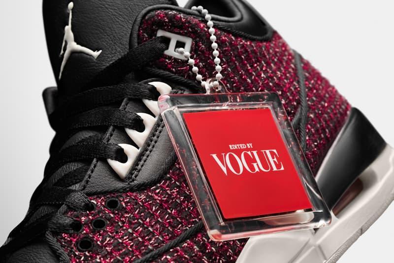 《VOGUE》x Air Jordan 3「AWOK」聯乘鞋款即將上架