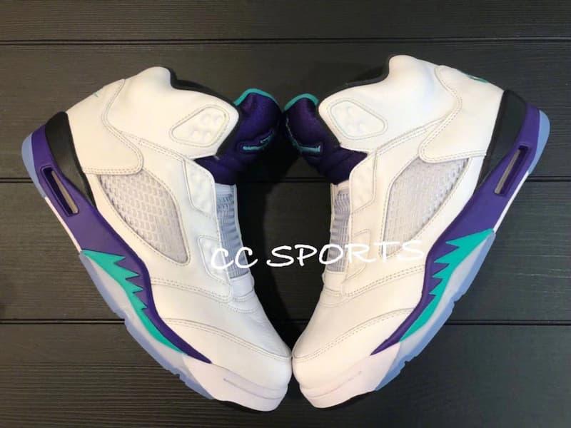 Will Smith x Air Jordan 5「Grape」無鞋帶聯乘版本實物曝光