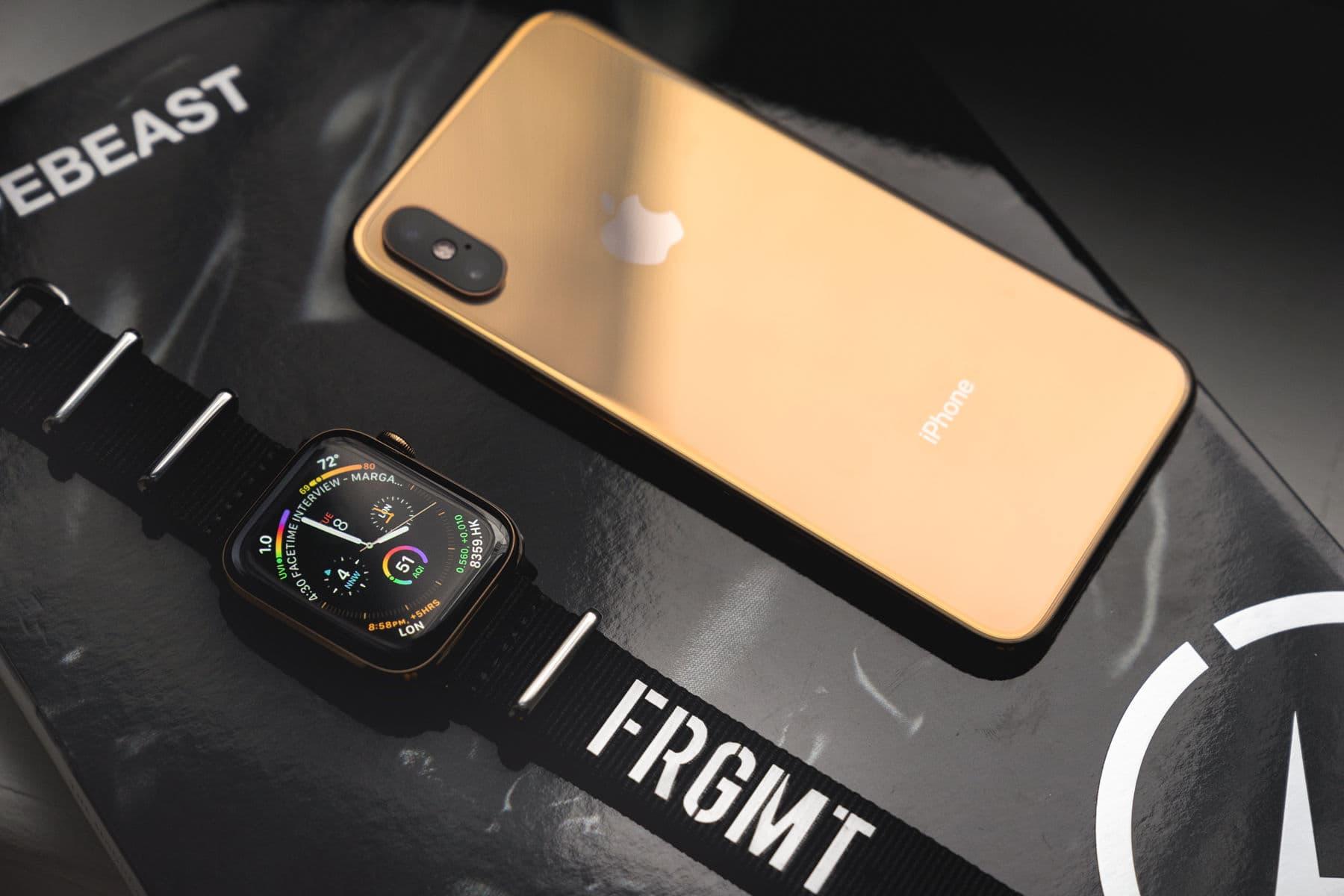 全新金色版 Apple Watch Series 4 及 iPhone XS 細節近賞