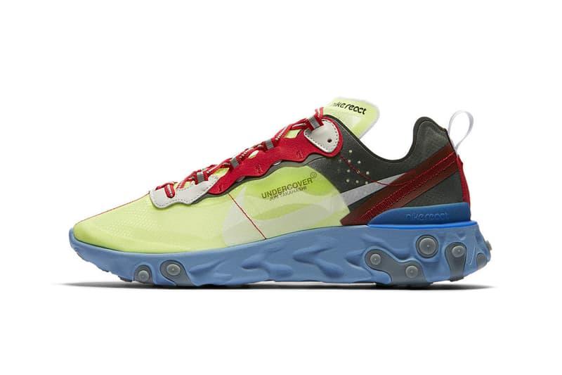 UNDERCOVER x Nike React Element 87 聯乘系列香港區抽籤消息發佈