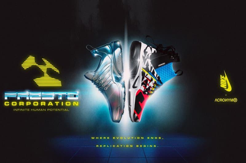 Nike Air Presto Mid x ACRONYM® 聯乘系列台灣發售情報公開