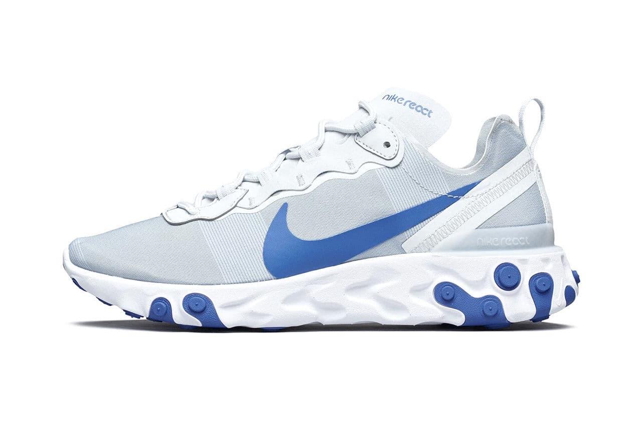 搶先預覽 Nike React Element 55 全新「Racer Blue」配色