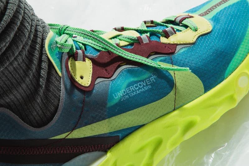UNDERCOVER x Nike React Element 87 聯乘系列上腳一覽
