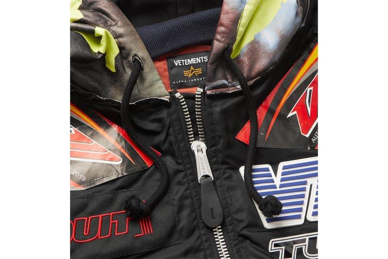 Vetements & Alpha Industries 聯名飛行員夾克正式發佈