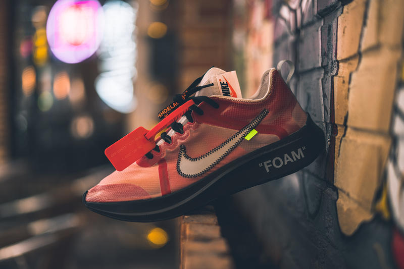 Off-White™ x Nike Zoom Fly SP 紅色版 Sample 細節近賞