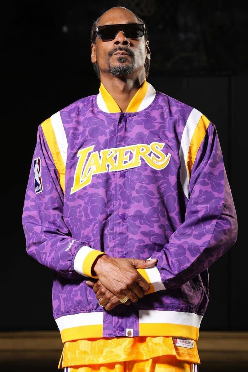 Snoop Dogg 加持-A BATHING APE® x MITCHELL & NESS 造型錄釋出