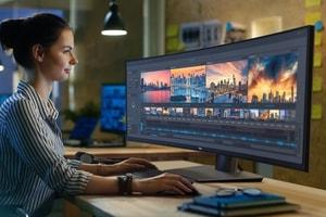 """最強視覺-Dell 發佈全球首款 49"""" 孤形屏幕顯示器"""