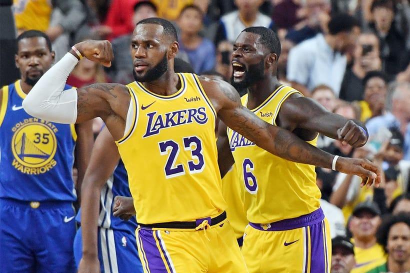 王者對決 − LeBron James 與 Lonzo Ball 首次合體帶領 Lakers 擊退 Warriors