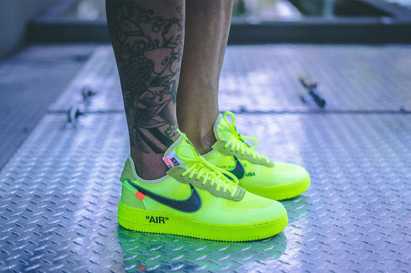 Off-White™ x Nike Air Force 1 全新「Volt」配色上腳一覽