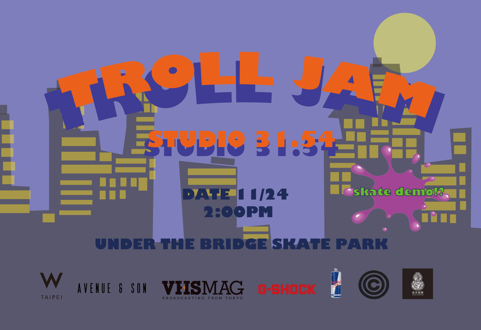 橋下集合!Troll Jam By Studio31.54 企劃本週始動