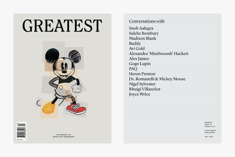 GOAT 半年刊生活雜誌《Greatest》第二期正式發佈