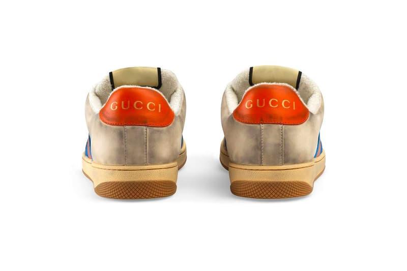 歲月感設計 − Gucci 推出全新復古仿舊運動鞋