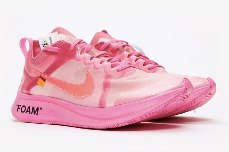 近賞 Off-White™ x Nike Zoom Fly SP 最新聯乘配色「Racer Pink」
