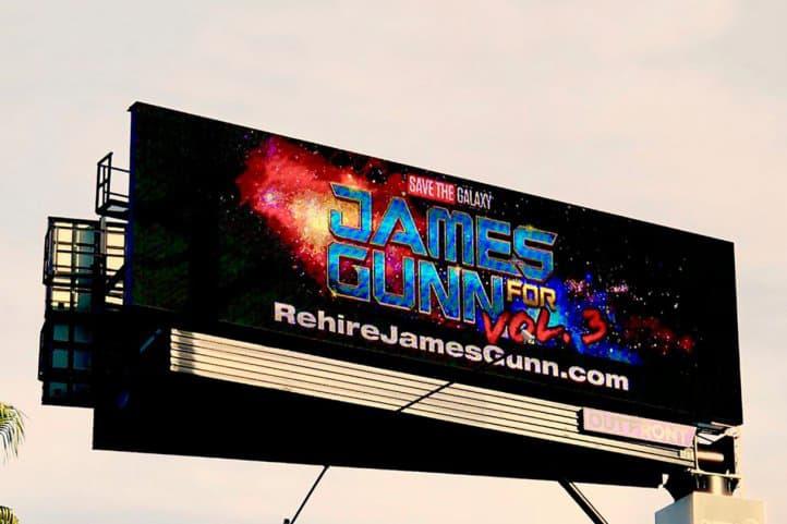 要求重聘 James Gunn!何人於美國 Disneyland 附近登廣告表訴求!?
