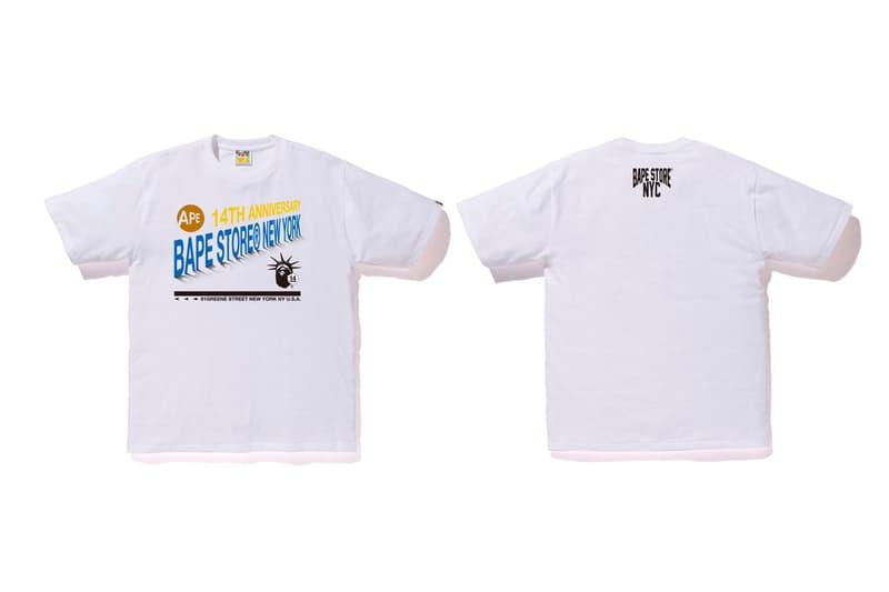 A BATHING APE® 發佈紐約旗艦店 14 周年紀念 T-Shirt