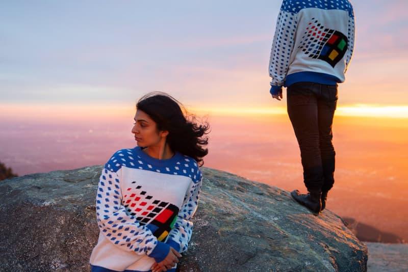 Microsoft Softwear-微軟推出 Windows 95 懷舊標誌圖案毛衣