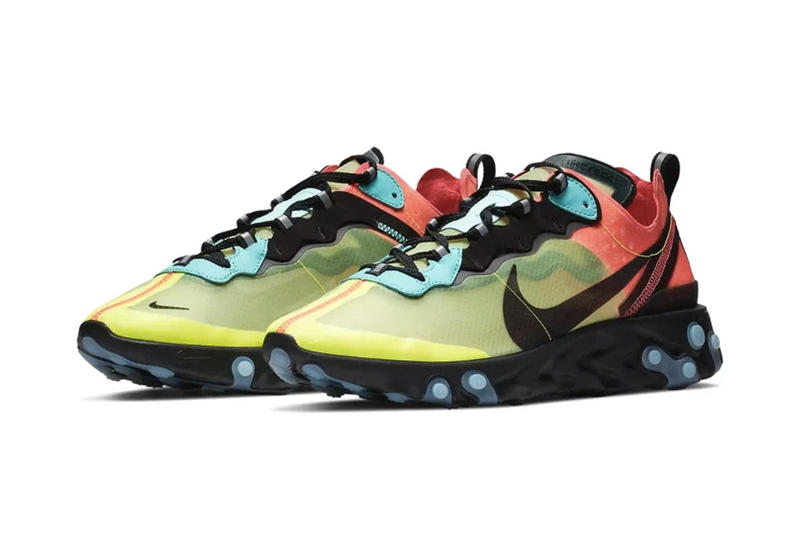 Nike 人氣跑鞋 React Element 87 全新「Volt / Racer Pink」配色登場