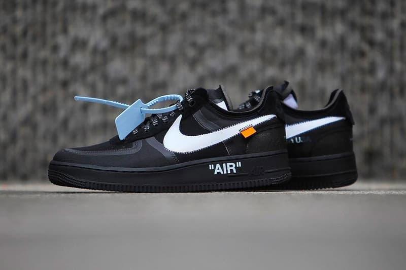 Off-White™ x Nike 聯乘 Air Force 1 全新「Black」&「Volt」配色上架消息公佈