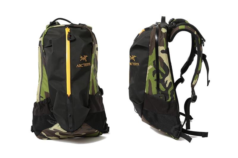 Arc'teryx x BEAMS 推出別注迷彩包袋系列