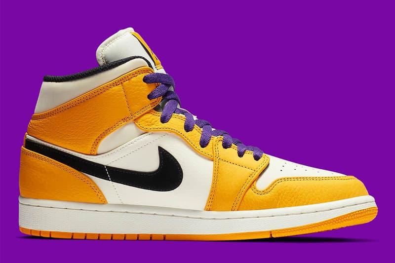 Air Jordan 1 Mid 全新「Lakers」配色發佈
