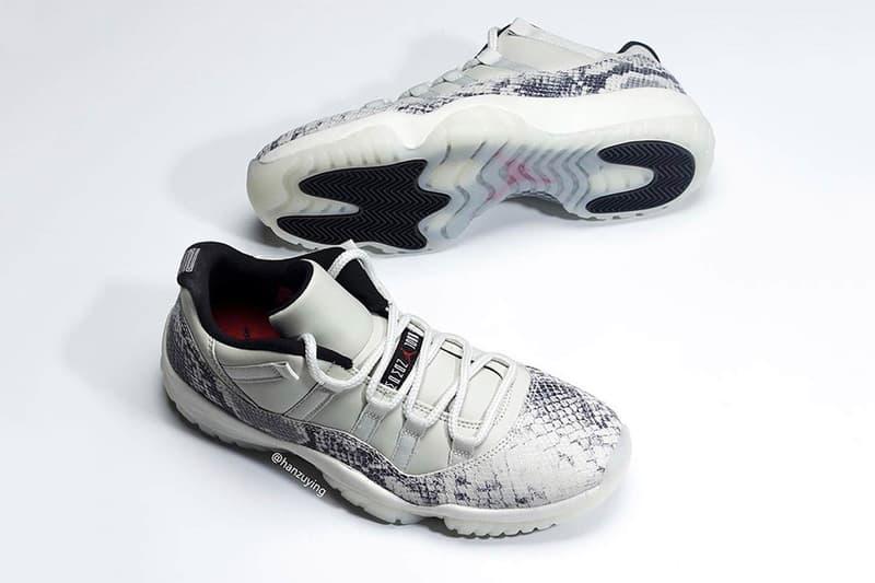 奢華升級-蛇紋 Air Jordan 11 Low 發售情報釋出