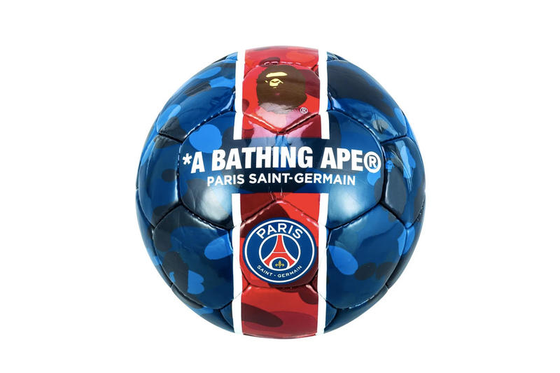 A BATHING APE® x Paris Saint-Germain 聯乘樣式足球上架