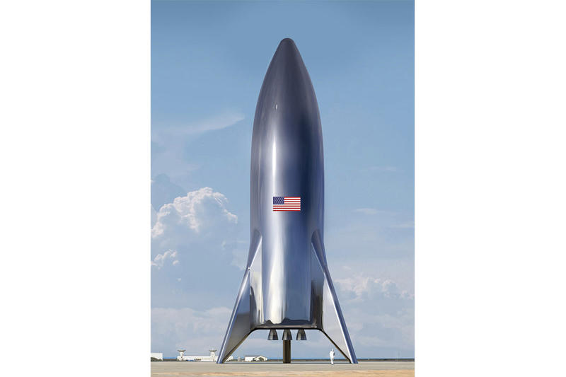 復古科幻-Elon Musk 發佈 SpaceX 太空船 Starship 概念圖