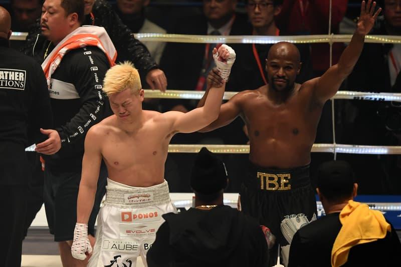 兩分鐘賺 $900 萬美元!Floyd Mayweather 表演賽輕鬆擊敗日本搏擊天才