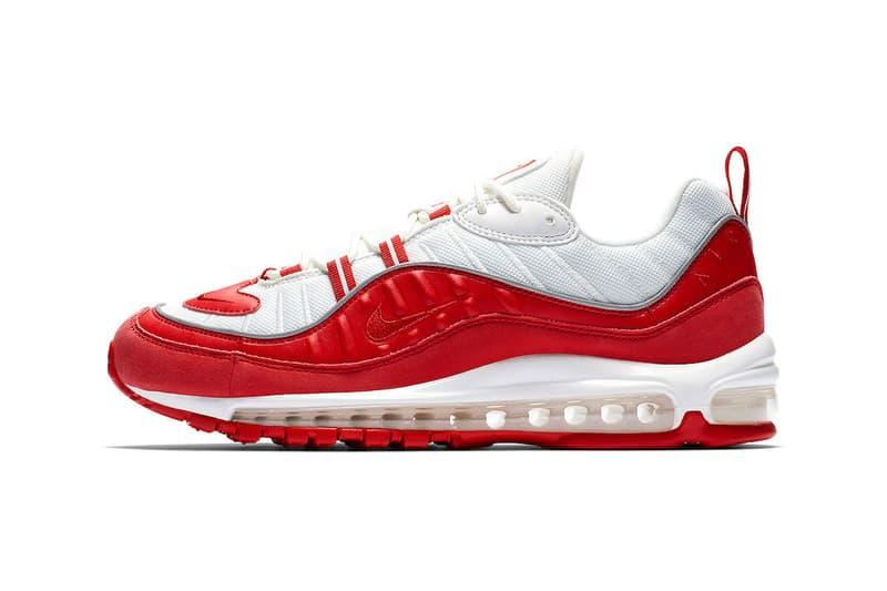 Supreme 聯名再現?!Nike Air Max 98 全新「University Red」配色發售情報公開
