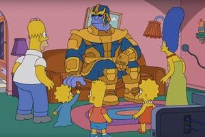 Thanos 竟然在《The Simpsons》最新一期「彈指」消滅主角們!?