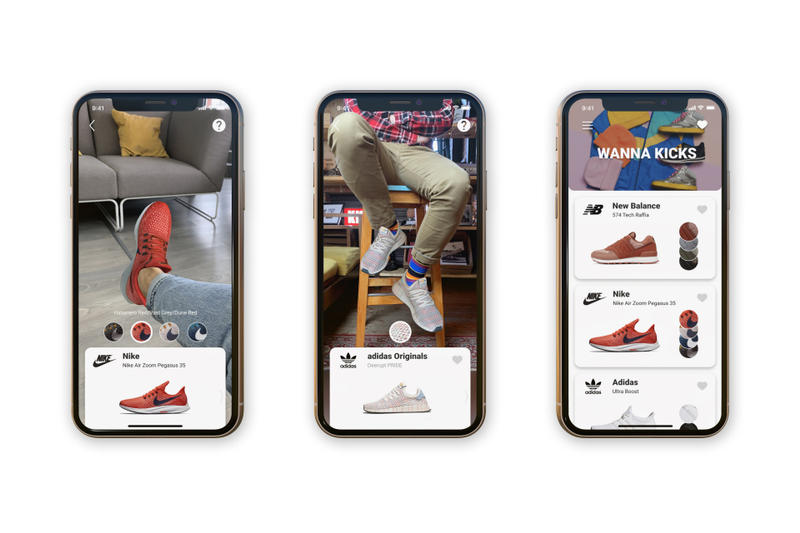 趣味應用 WANNA KICKS 通過 AR 技術幫助用戶虛擬「試鞋」