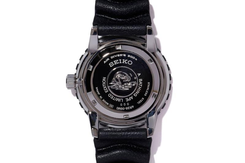 A BATHING APE® x SEIKO 聯乘日本限定潛水腕錶