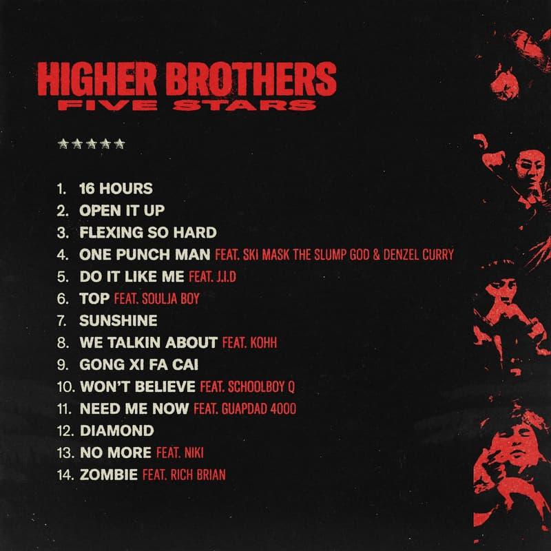 Higher Brothers 全新專輯《Five Stars》即將正式上線