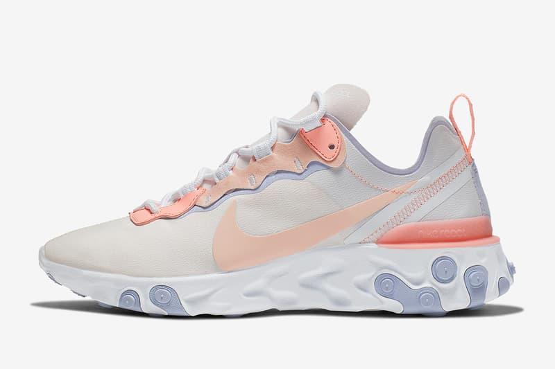 Nike React Element 55 釋出全新「Pale Pink」配色