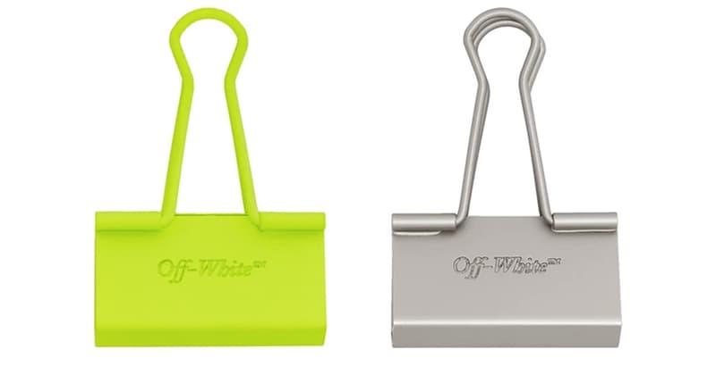 Off-White™ 推出全新「長尾夾」配件系列