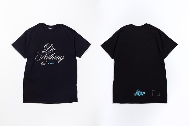 sacai x fragment design 再度攜手帶來「Do Nothing but sacai」別注系列