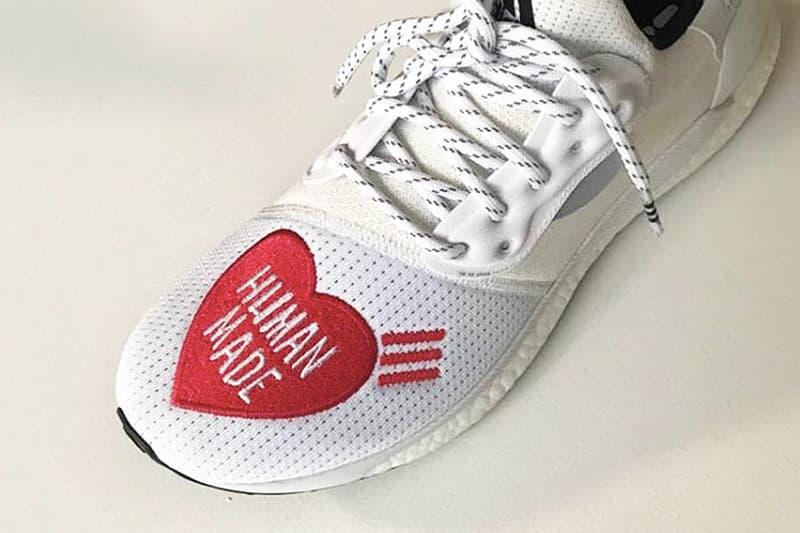 11822de4e71cc Pharrell 親自曝光Human Made x adidas 聯名版本SolarHu Glide