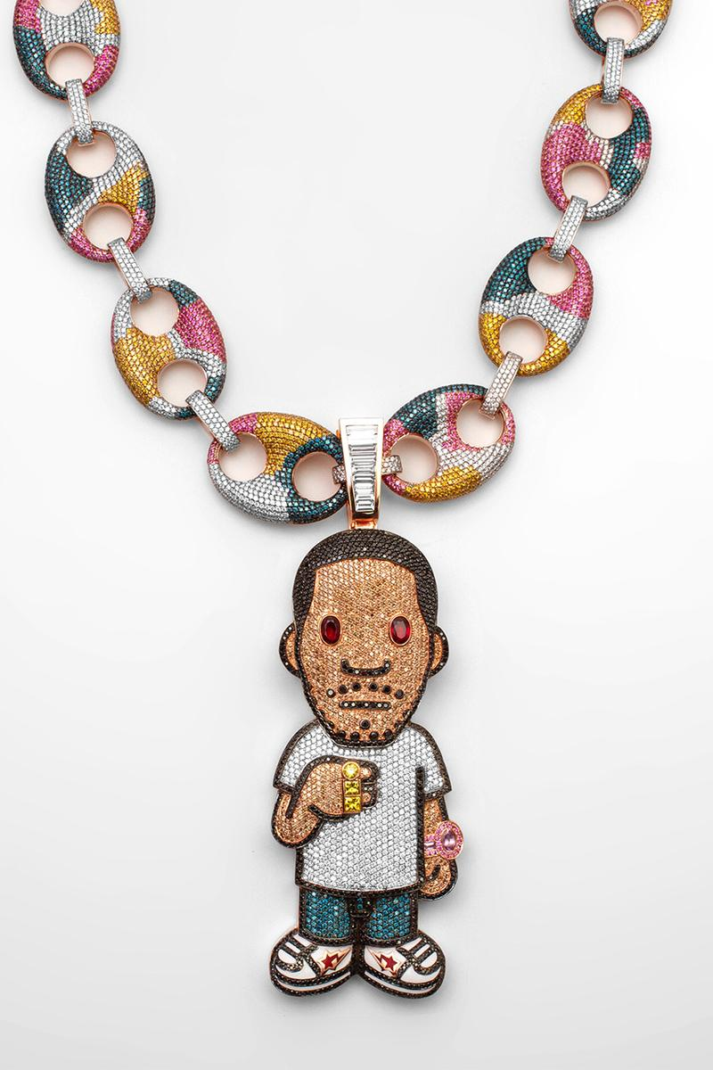 Ben Baller 打造 Kid Cudi X BAPE 專屬定製鑽石項鏈