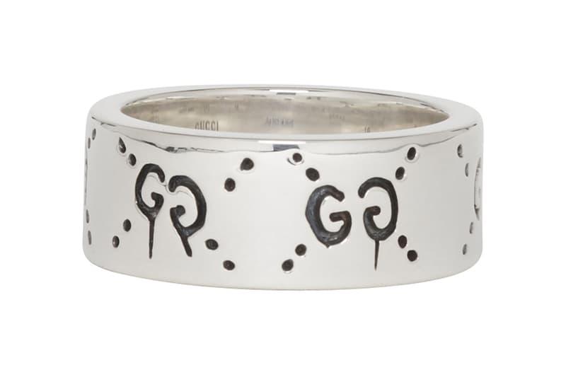 Gucci 全新「GucciGhost」銀戒指上架