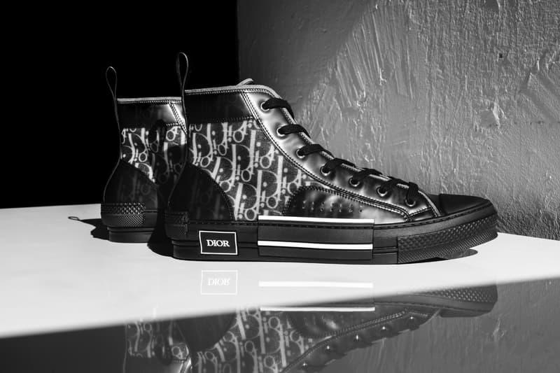 獨家近賞 Dior B23 Oblique 全新黑色版高筒運動鞋