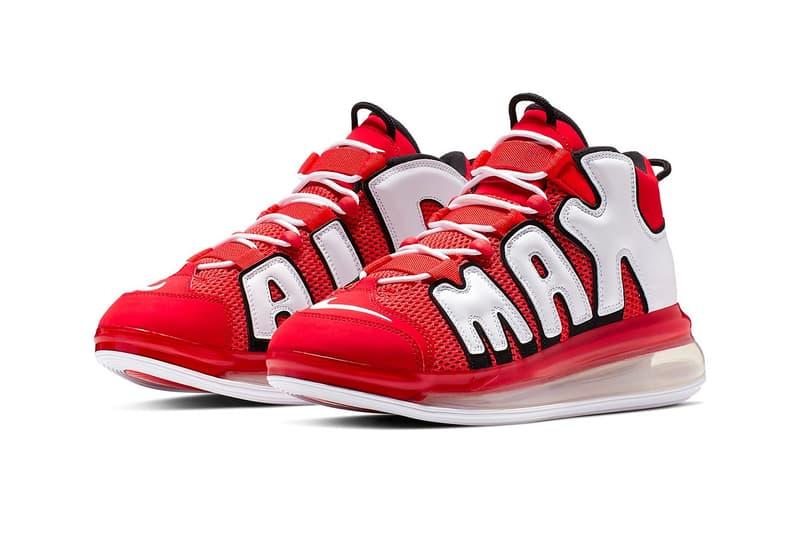 變種變色-Nike Air More Uptempo 720 推出全新「University Red」配色
