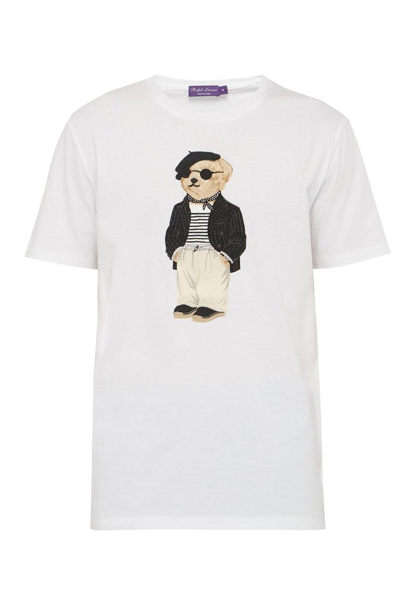 Ralph Lauren 頂級支線 Purple Label 打造「Polo Bear」刺繡 T-Shirt